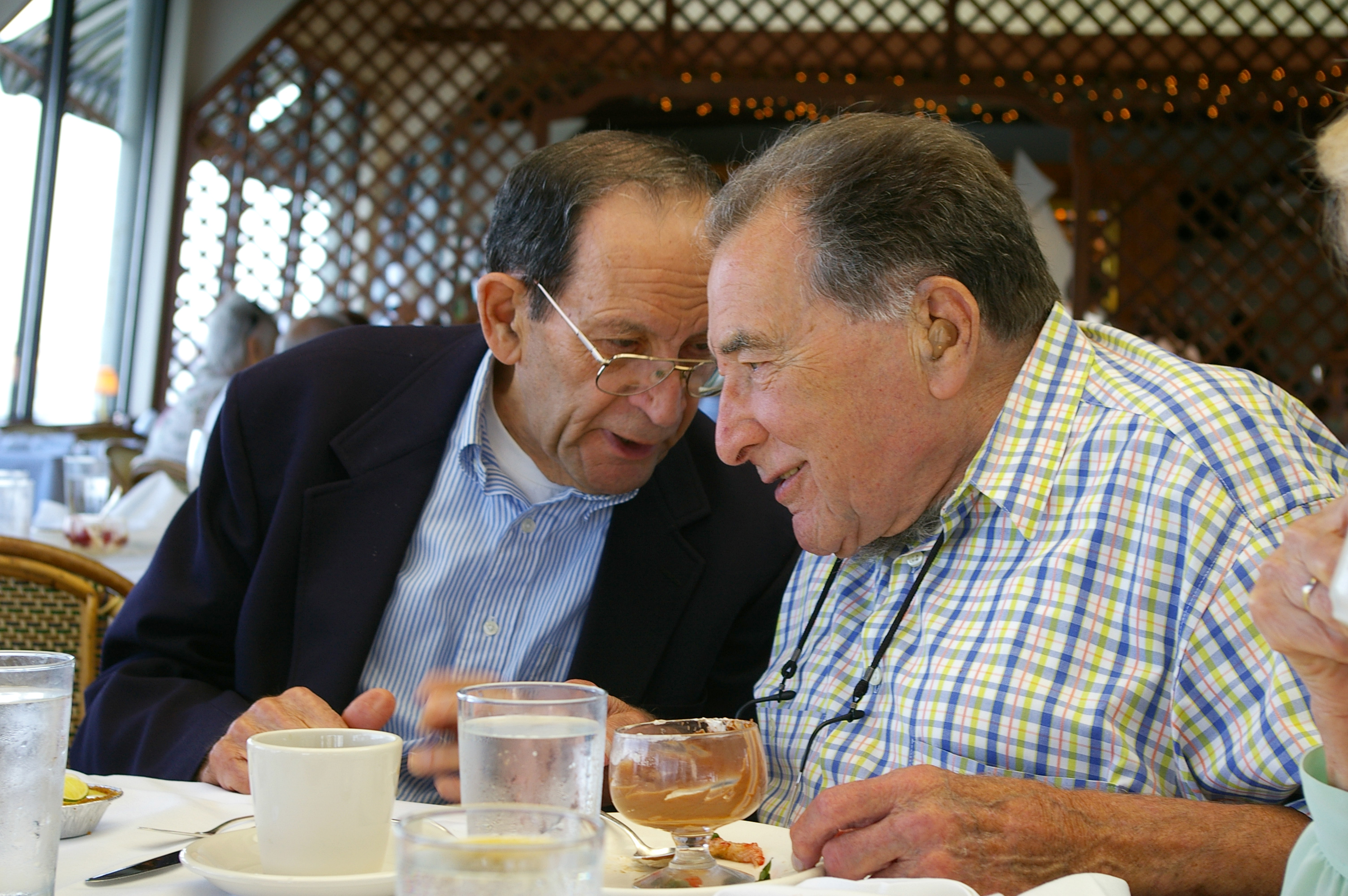 Stan and Bernie enjoy a story 2008.jpg